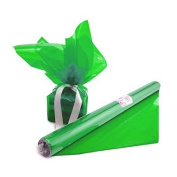 Hygloss 71503 Cello Gift Wrap Roll, 50cm by 3.8m, Green