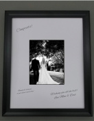 18x24 Black Frame with white signature mat for 11x14 picture, perfect for weddings, baby showers and reunions