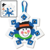 12 Snowman Snowflake Ornament Craft Kits