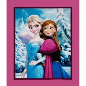 Disney Frozen Elsa and Anna Sisters Snowy Scenic 90cm Panel Multi Fabric