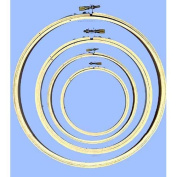 Wooden Embroidery Hoops, Set of 4