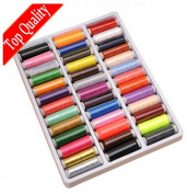 39 Assorted Multi-Colour 200 Yards Polyester Sewing Thread