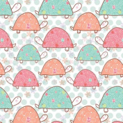 The Gift Wrap Company 12-Rolls Heavy Weight Wrapping Paper, Turtle Tumble