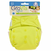 GroVia Cloth Nappy Cover - Snap - Citrus - One Size