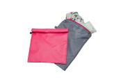 J.L. Childress Wet Bag, Pink/Grey, 2 Count