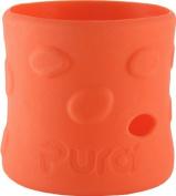 Pura Kiki Pebble Silicone Bottle Sleeve, Orange, Short