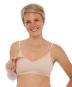 La Leche League International Womens' Patented Nursing/Pumping Bra - Nude - 40C