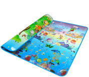 Lifemall 200*180*0.5cm Thickness Baby Crawling Mat Baby Crawling Pad/ Game Mat