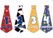 Monthly Baby Stickers Monthly Tie Stickers Boy Necktie Monthly Baby Boy Tie Stickers UNCUT Wild West Monthly Stickers Cowboy Monthly Stickers Different Tie Each Month