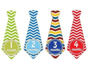 Monthly Baby Stickers Monthly Tie Stickers Boy Necktie Monthly Baby Boy Tie Stickers - UNCUT Chevron Boy Ties- Colour For Each Month - Monthly Tie Necktie Stickers - Chevron Ties