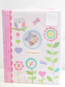 "Baby's First Memmory Book ""Our Baby Girl"" Pink W/flowers, Owls, Hearts, & Butterflies"