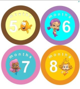 Monthly Stickers Baby Month Stickers Baby Girl Monthly Stickers Bubble Guppies Stickers Bubble Guppies Monthly Stickers