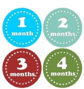 Monthly Stickers Monthly Baby Stickers Monthly Baby Boy Stickers Monthly Star Stickers Colourful Stars Waterproof Baby Shower Gift