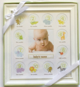 Stepping Stone Baby's First Year Picture Frame