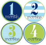 Mumsy Goose Baby Boy Monthly Stickers 1-12 Months