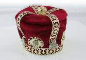 Exquisite Rhinestones Crystal Photo Prop Baby Velvet Tiara Crown