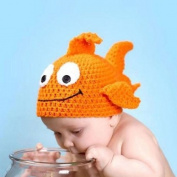 Coromose Creative Safty Newborn Baby 0-9 Month Knit Minnie Photo Prop Outfits Fish Head Patern