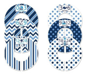 #114 Blue Navy Nautical Boy Baby Closet Dividers Clothes Organisers Set of 6