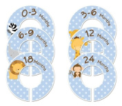 #86 Animals Boy Baby Closet Dividers Clothes Organisers Set of 6