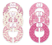 Pink #4 Baby Closet Dividers Girl Clothes Organisers Set of 6