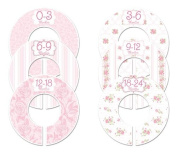 #102 Roses Girl Baby Closet Dividers Clothes Organisers Set of 6
