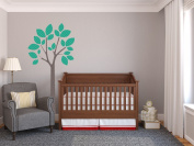 Modern Tree Fabric Wall Decal in Green - 4 Colour Options Available - Peel and Stick Fabric Nursery Wall Sticker