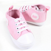 Fashionwu Infant Toddler Baby Boy Girl Soft Sole Crib Shoes Sneaker Pink 6-9 Months