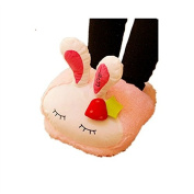 Winter Warmth Household Warmth Plush Slippers, rabbit pink