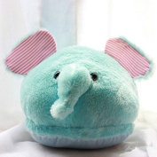 Winter Warmth Household Warmth Plush Slippers, elephant blue