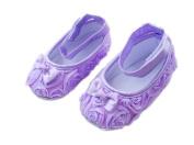 Femizee Newborn Baby Girls Toddlers First Walking Shoes Purple Flower 6-9 Months