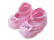 Femizee Newborn Baby Girls Toddlers First Walking Shoes Pink Big Flower 9-12 Months