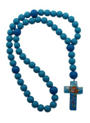 Blue Boy 15mm Wood Bead First Rosary - Noah's Ark