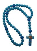 Blue Boy 15mm Wood Bead First Rosary - Noah's Ark