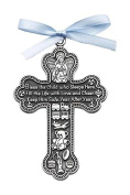 Cathedral Art CM6 Baby Boy Cross Crib Medal, 7.6cm High