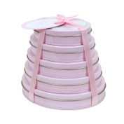 Child to Cherish Handprint Tower of Time Oval, Pink