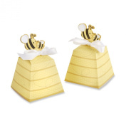 Kate Aspen 24 Count Sweet as Can Bee Mom and Baby Beehive Favour Box