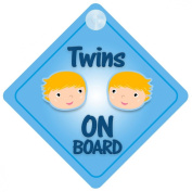 Twins Boys On Board Car Sign New Baby / Child Gift / Present / Baby Shower Surprise