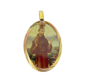 Blessed By Pope Francis St Saint Francis of Assisi Gold Overlay Medal