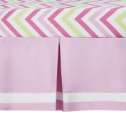 CoCaLo Mix & Match Audrey Pleated Dust Ruffle with Grosgrain Ribbon