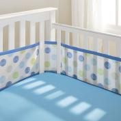 BreathableBaby Mesh Crib Liner - Blue Mist