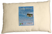 Toddler Pillow, Organic & Hypoallergenic, 3 Year Guarantee, Hand Made in USA by parents for kids (ages 2+) with Best Washable Cluster Poly Fibre Fill - For Bed, Crib, Carseat or Aeroplane Travel (13 X 18) No Clump, Never Flat, Child Head and Neck Support