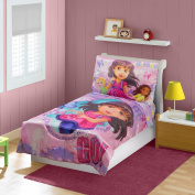Dora & Friends Toddler Bedding Set, Pink
