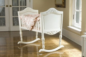 Green Frog Cradle, Antique White