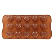 Click Down Heart-shape Silicone Ice Chocolate Cake Jelly Candy Mould Mini Tray Pan Cube -2 Pcs