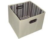 Alexi Ricci Khaki Tan 11Hx13Wx13D Folding Storage Bin Orginization with Style