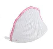 Liroyal Bra Wash Laundry Portable Mesh Bag with Plastic Frame Construction White colour