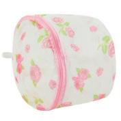 Liroyal Bra Wash Laundry Portable Mesh Bag with Plastic Frame Construction flower colour