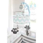 My Baby Sam Chevron Mobile, Aqua/Grey