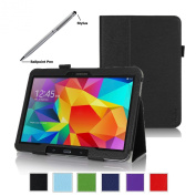 ProCase for  for  for Samsung   Galaxy Tab 4 10.1 Tablet Case with bonus stylus pen - Bi-Fold Stand Cover Case for 25cm Galaxy Tab 4 (2014 released), with auto Sleep/Wake, Hand Strap, also compatible with Galaxy Tab 3 10.1