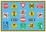 Fun Rugs FT-130 3958 Traffic Signs Childrens Rug, 100cm by 150cm